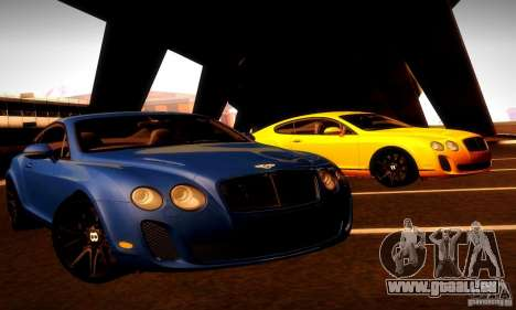Bentley Continental Supersports für GTA San Andreas Unteransicht