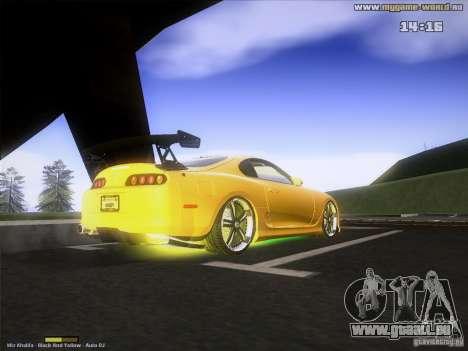 Toyota Supra v2 (MyGame Drift Team) pour GTA San Andreas vue de droite