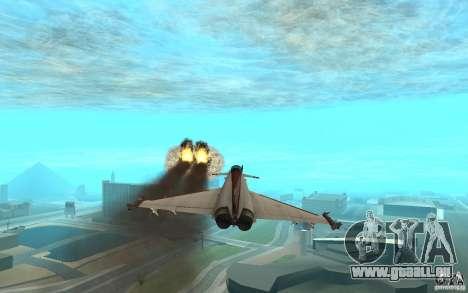 EF-2000 Typhoon V1.3 pour GTA San Andreas sur la vue arrière gauche
