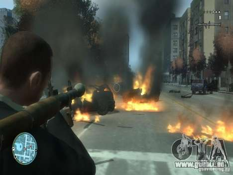 Intense Fire Mod für GTA 4 Sekunden Bildschirm