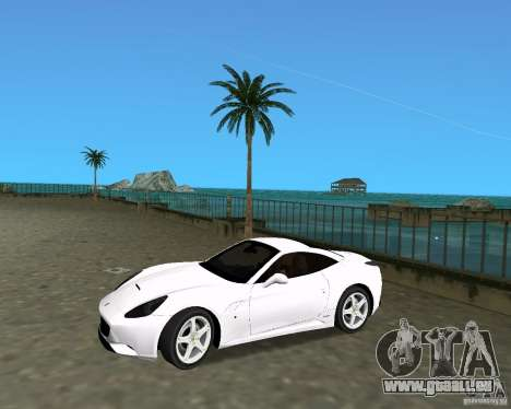 Ferrari California pour une vue GTA Vice City de la droite