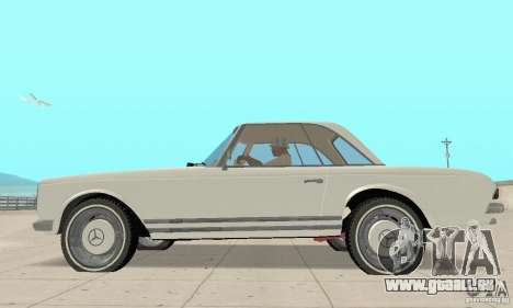 Mercedes-Benz 280SL (glänzend) für GTA San Andreas zurück linke Ansicht