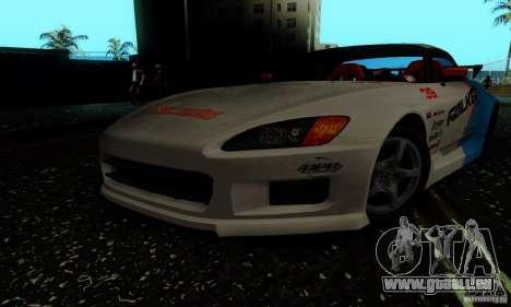 Honda S2000 Tunable pour GTA San Andreas vue de côté