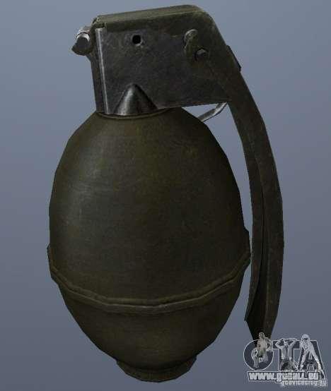 M61 Grenade pour GTA San Andreas deuxième écran