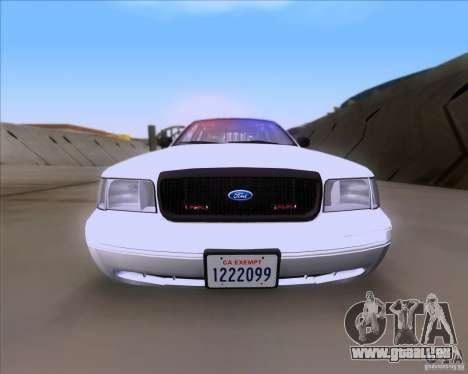 Ford Crown Victoria 2009 Detective für GTA San Andreas rechten Ansicht