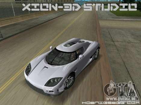 Koenigsegg CCX pour une vue GTA Vice City de la droite