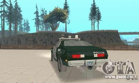 Plymouth Duster 340 Police pour GTA San Andreas laissé vue