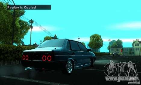PROTOCOLE DE VAZ 21099 pour GTA San Andreas vue arrière