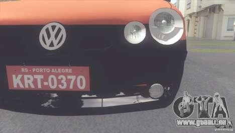 VW Polo Taxi de Porto Alegre für GTA San Andreas zurück linke Ansicht