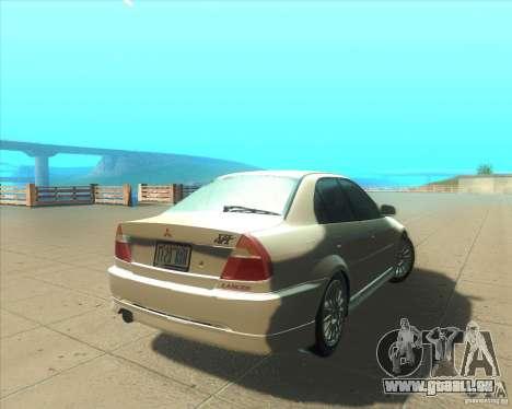 Mitsubishi Lancer Evolution VI 1999 Tunable für GTA San Andreas obere Ansicht