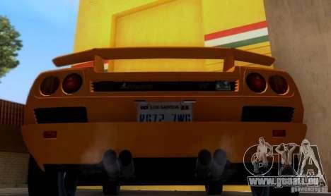 Lamborghini Diablo VTTT Black Revel pour GTA San Andreas vue de droite