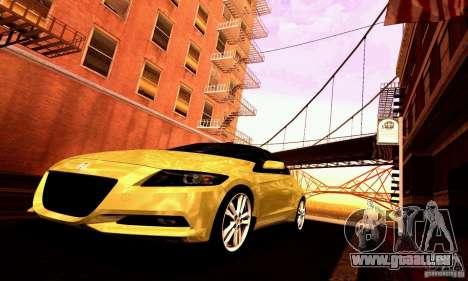 Honda CR-Z 2010 V2.0 für GTA San Andreas Unteransicht