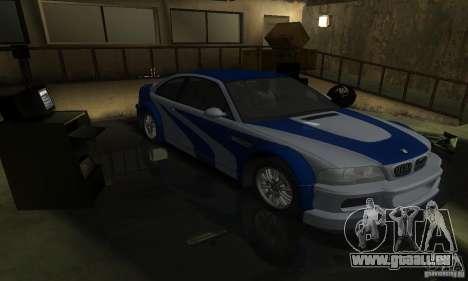 BMW M3 Tuneable pour GTA San Andreas moteur