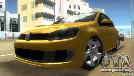 Volkswagen Golf 6 GTI pour une vue GTA Vice City de la gauche