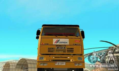 KAMAZ 53215 Tai Liebherr v1.1 pour GTA San Andreas vue de droite