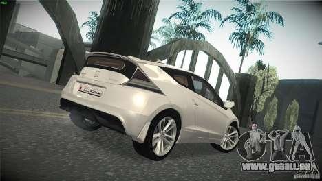 Honda CR-Z 2010 V1.0 für GTA San Andreas Rückansicht