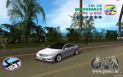 Mercedes-Benz E Class Coupe C207 für GTA Vice City linke Ansicht