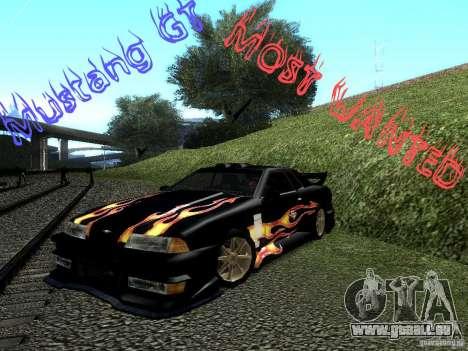 Rèjzora de vinyle de Most Wanted pour GTA San Andreas