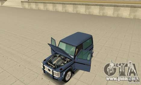 Mercedes-Benz G500 1999 Short [with kangoo v2] pour GTA San Andreas vue arrière