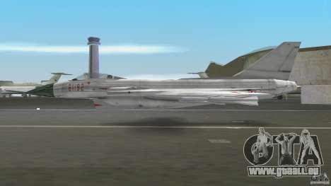 J-10 pour GTA Vice City sur la vue arrière gauche