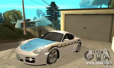 Porsche Cayman S pour GTA San Andreas vue de dessous