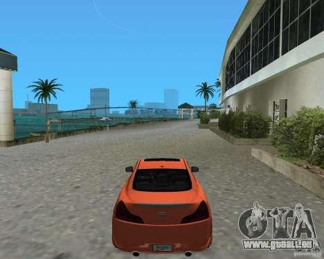 Infinity G37 pour une vue GTA Vice City de la gauche