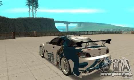 Mazda RX-8 NFS ProStreet für GTA San Andreas zurück linke Ansicht