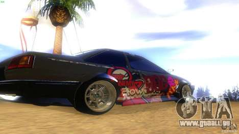 Toyota AE86 Coupe - Final pour GTA San Andreas sur la vue arrière gauche