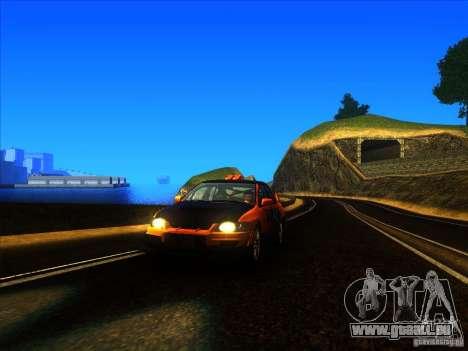 Mitsubishi Lancer Evolution IX MR pour GTA San Andreas laissé vue