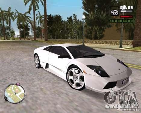 Lamborghini Murcielago V12 6,2L für GTA Vice City rechten Ansicht