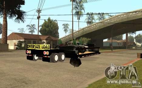 Trailer lowboy transport pour GTA San Andreas vue de droite