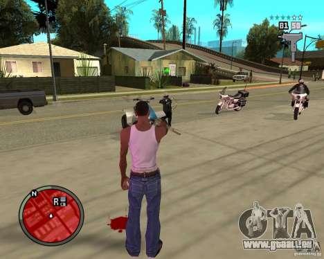 GTA IV HUD pour GTA San Andreas troisième écran