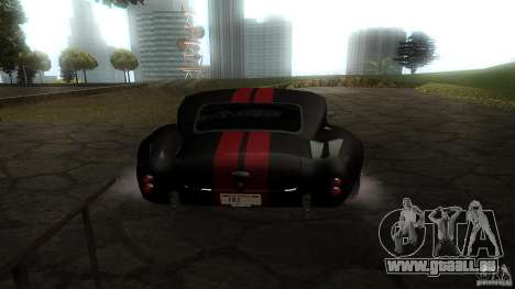 Shelby Cobra Dezent Tuning pour GTA San Andreas vue de droite