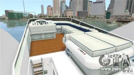 Luxury Yacht für GTA 4 rechte Ansicht