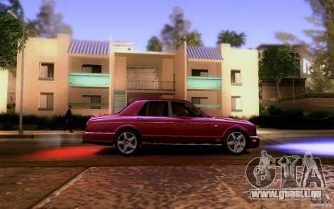 Bentley Arnage pour GTA San Andreas vue intérieure