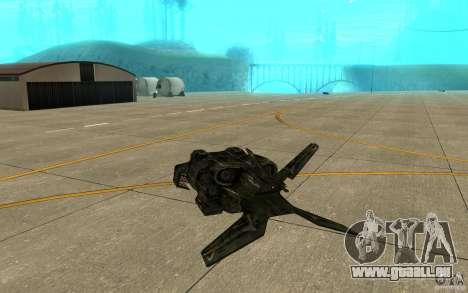 Das Shuttle aus dem Spiel Aliens Vs Predator 3 für GTA San Andreas rechten Ansicht