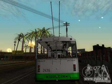 ZiU-683 für GTA San Andreas zurück linke Ansicht