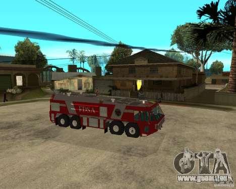 Rosenbauer Simba 8x8 GFLF FDSA für GTA San Andreas rechten Ansicht