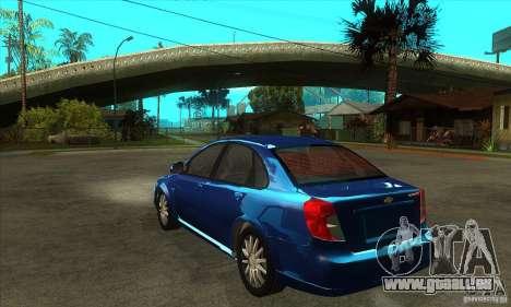 Chevrolet Optra 2011 für GTA San Andreas zurück linke Ansicht