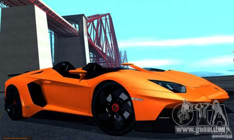 Lamborghini Aventador J für GTA San Andreas zurück linke Ansicht
