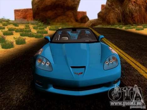 Chevrolet Corvette C6 Convertible 2010 pour GTA San Andreas laissé vue