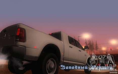 Dodge Ram 3500 Laramie 2010 pour GTA San Andreas vue de droite