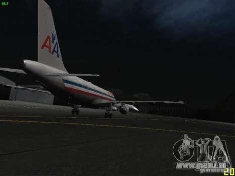 Airbus A320 für GTA San Andreas Rückansicht