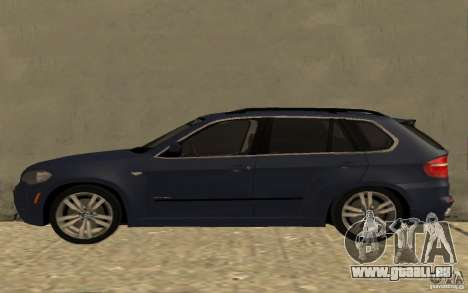 BMW X5 M 2009 pour GTA San Andreas laissé vue