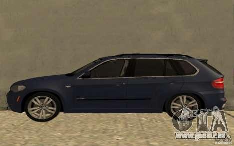 BMW X5 M 2009 für GTA San Andreas linke Ansicht