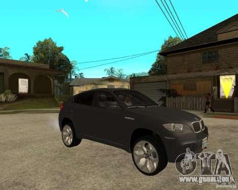 BMW X6 M pour GTA San Andreas vue de droite