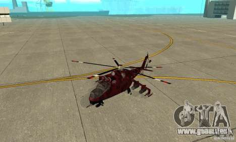 Mi-24 pour GTA San Andreas