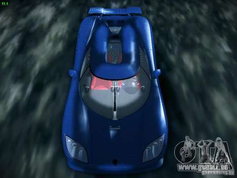 Koenigsegg CCXR Edition pour GTA San Andreas vue arrière