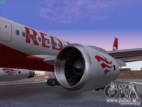 Tupolev Tu-204 Red Wings Airlines für GTA San Andreas rechten Ansicht