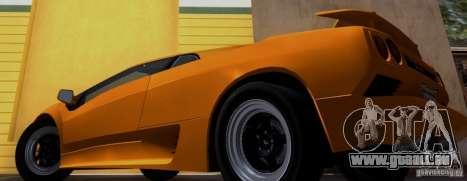 Lamborghini Diablo VTTT Black Revel pour GTA San Andreas sur la vue arrière gauche